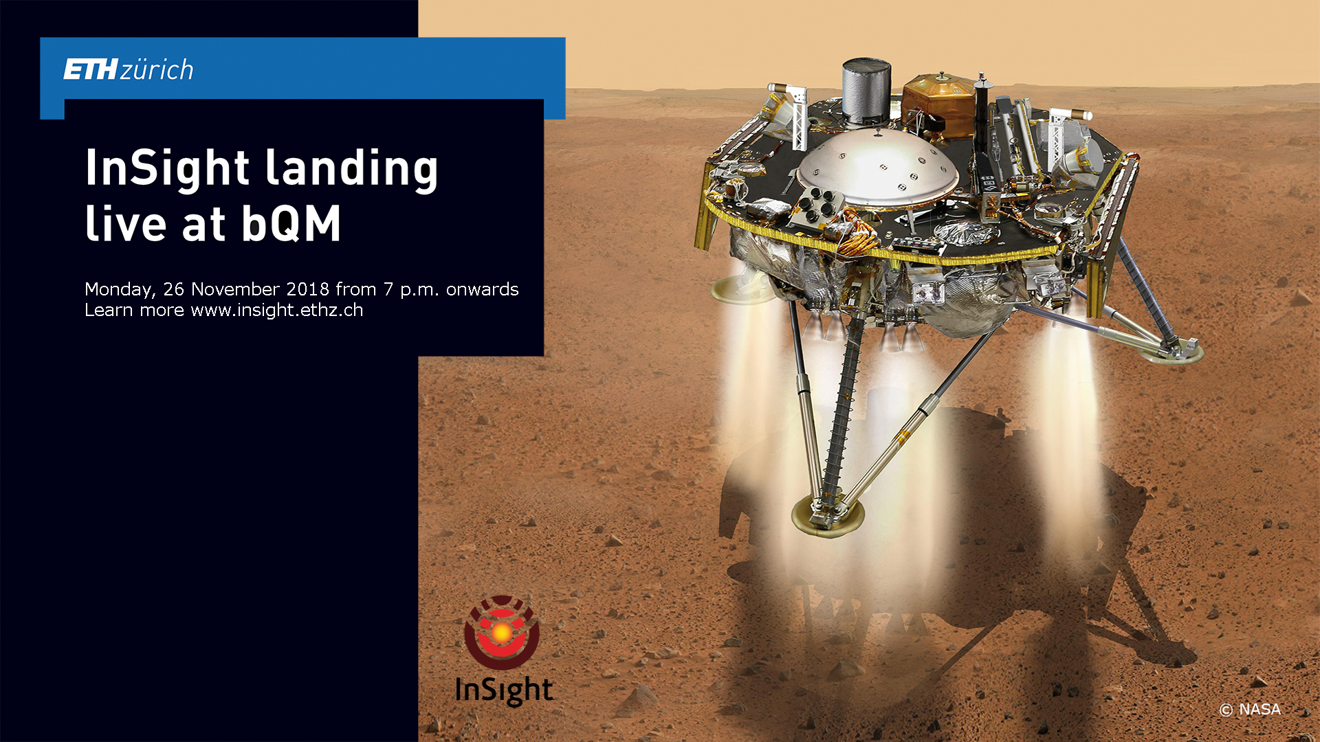 InSight landing live at bQm